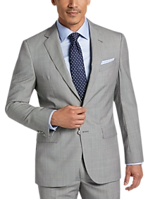 Mens Modern Fit, Suits - Joseph Abboud Heritage Gray Windowpane Modern Fit Suit - Men's Wearhouse