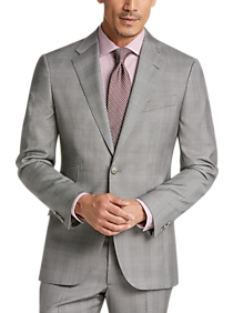 Mens Suits, Big & Tall - Joseph Abboud Limited Edition Gray Plaid Slim Fit Suit - Men's Wearhouse