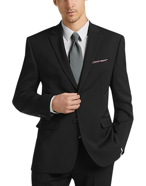 Perry Ellis Mens Slim Fit Suit with Hemmed Pant