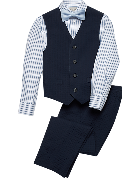 Kenneth Cole Reaction Boys Navy Stripe Suit Set