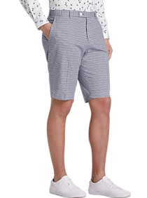 Mens Extra 30% Off Clearance, Suits - Paisley & Gray Slim Fit Suit Separates Shorts, Navy Gingham - Men's Wearhouse