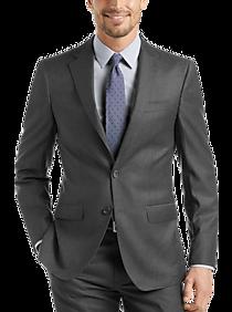 Mens Vested 3-Piece Suits, Suits - Calvin Klein Navy Stripe X-Fit Vested Suit - Men's Wearhouse