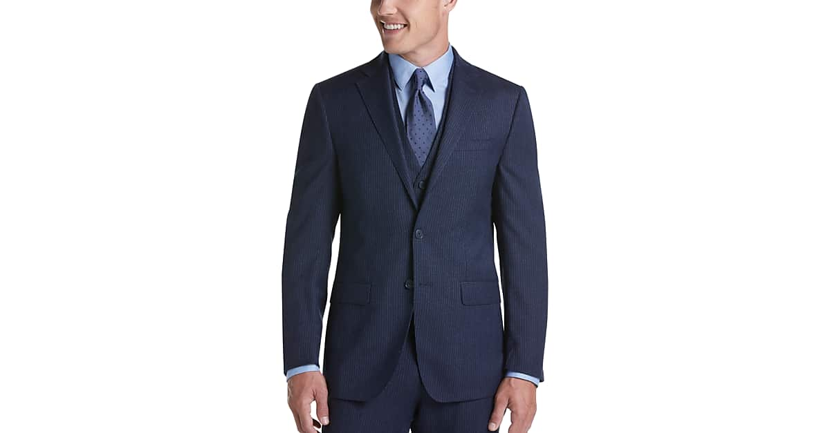 Lined Vested Suits Calvin Klein Men S Wearhouse