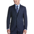 Calvin Klein Navy Stripe X-Fit Vested Suit