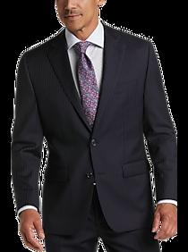 Mens Lauren by Ralph Lauren, Suits - Lauren by Ralph Lauren Blue Stripe Classic Fit Suit - Men's Wearhouse