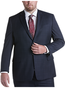 Mens Executive Fit, Suits - Pronto Uomo Navy Windowpane Executive Fit Suit - Men's Wearhouse