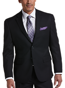Mens Suits - Pronto Uomo Black Stripe Modern Fit Suit - Men's Wearhouse