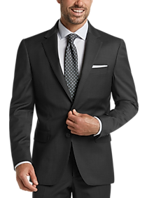 Mens Suits - JOE Joseph Abboud Charcoal Herringbone Slim Fit Suit - Men's Wearhouse
