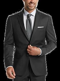 JOE Joseph Abboud Charcoal Herringbone Slim Fit Suit