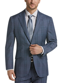 Mens Slim Fit, Suits - Joseph Abboud Limited Edition Blue Plaid Slim Fit Suit - Men's Wearhouse