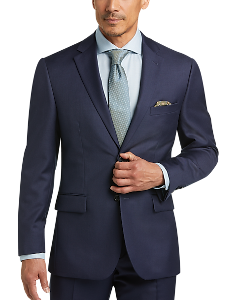 Joe Joseph Abboud Blue Modern Fit Suit Men S Suits Men S Wearhouse