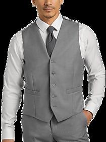 Mens $30 JOE Joseph Abboud Suit Separate Vests, Big & Tall - JOE Joseph Abboud Light Gray Modern Fit Suit Separates Vest - Men's Wearhouse