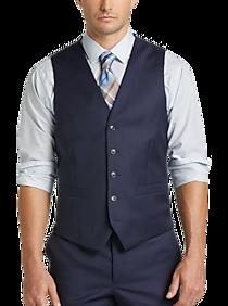 JOE Joseph Abboud Blue Slim Fit Suit Separates Vest