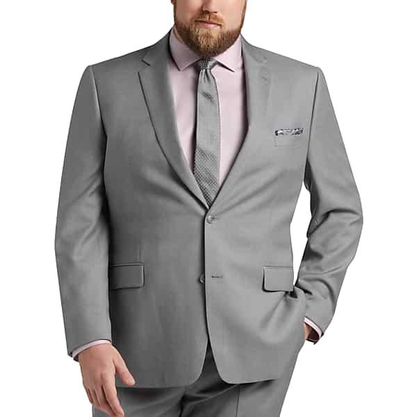 1960s Mens Suits | Mod, Skinny, Nehru JOE Joseph Abboud Light Gray Mens Suit Separates Coat Executive - Size 42 Regular $194.99 AT vintagedancer.com