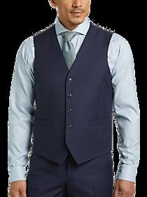 JOE Joseph Abboud Blue Suit Separates Vest, Executive Fit