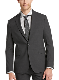 Cole Haan Grand.?S Charcoal Gray Slim Fit Suit