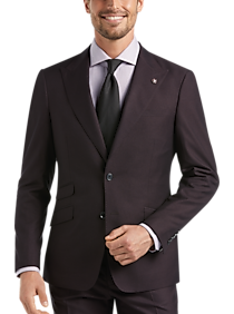 Mens Extra 30% Off Clearance, Suits - Suitor Dark Wine Slim Fit Suit - Men's Wearhouse