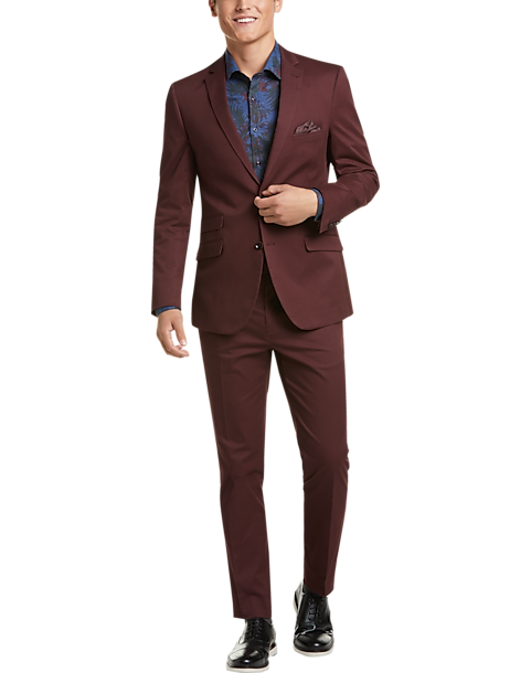 Paisley & Gray Slim Fit Suit Separates Coat, Burgundy