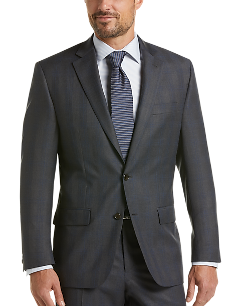 Lauren by Ralph Lauren Charcoal Plaid Classic Fit Suit
