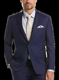 Mens Classic Fit, Suits - Lauren by Ralph Lauren Blue Stripe Classic Fit Suit - Men's Wearhouse