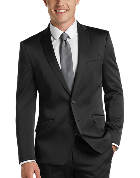 Kenneth Cole Reaction Techni-Cole Black Skinny Fit Suit