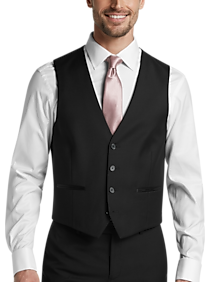 Calvin Klein Black Slim Fit Suit Separates Tuxedo Vest