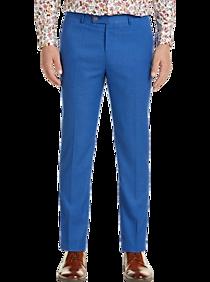 1960s Men's Clothing Paisley  Gray Slim Fit Suit Separates Slacks French Blue $39.99 AT vintagedancer.com