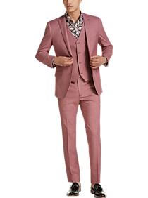 1960s Mens Suits | Mod, Skinny, Nehru Paisley  Gray Slim Fit Suit Separates Jacket Raspberry $189.99 AT vintagedancer.com