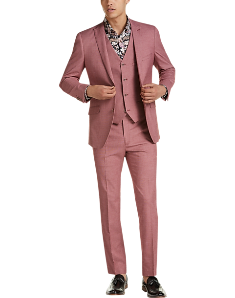 Paisley Gray Slim Fit Suit Separates Jacket Raspberry Men S Suits Men S Wearhouse