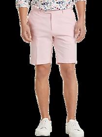 Vintage Style Men's Shorts Paisley  Gray Slim Fit Suit Separates Shorts Pink Seersucker $24.99 AT vintagedancer.com