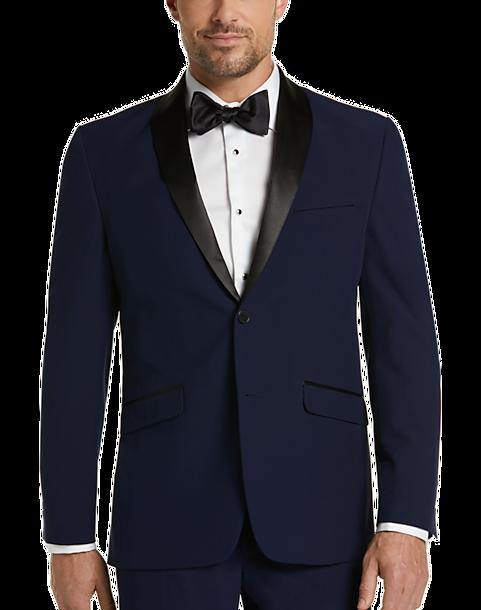 Perry Ellis Premium Postman Blue Techxedo Extreme Slim Fit Tuxedo