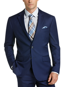 JOE Joseph Abboud Bright Blue Slim Fit Suit