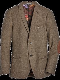 Mens Slim Fit, Suits - Paisley & Gray Slim Fit Suit Separates Coat, Brown Herringbone - Men's Wearhouse