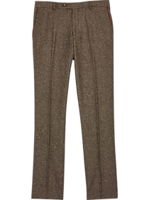 1920s Fashion & Clothing | Roaring 20s Attire Paisley  Gray Slim Fit Suit Separates Pants Brown Herringbone $79.99 AT vintagedancer.com