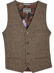 1930s Men's Summer Clothing Guide Paisley  Gray Slim Fit Suit Separates Vest Gray  Brown Herringbone $49.99 AT vintagedancer.com