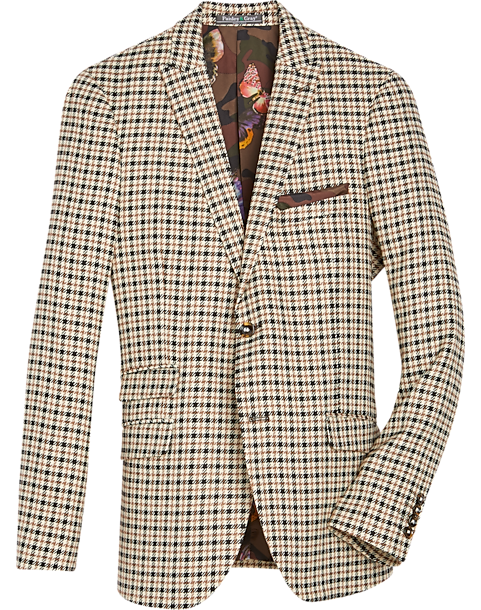 Paisley & Gray Houndstooth Extreme Slim Fit Suit Separates Coat