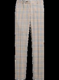 60s – 70s Mens Bell Bottom Jeans, Flares, Disco Pants Paisley  Gray Slim Fit Suit Separates Pants Gray  Yellow Plaid $79.99 AT vintagedancer.com