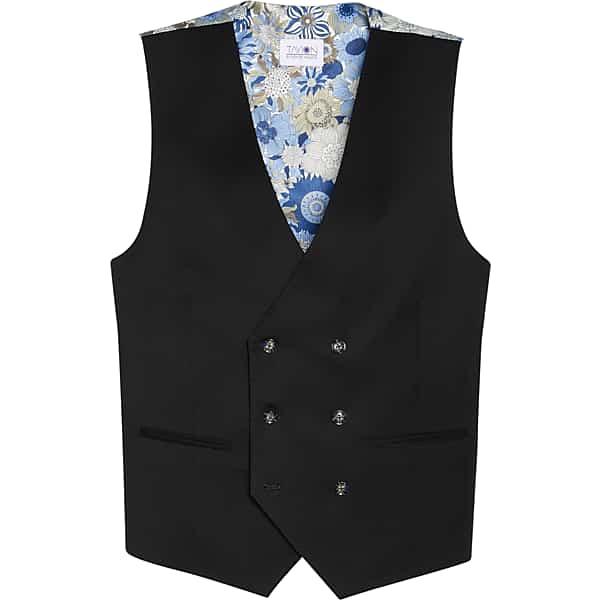 Edwardian Men's Fashion & Clothing 1900-1910s Tayion Mens Classic Fit Suit Separates Vest Black - Size XL $39.99 AT vintagedancer.com