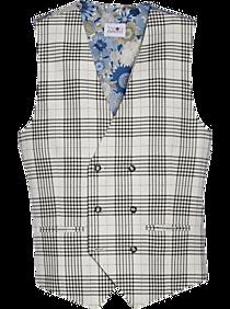 Edwardian Men's Fashion & Clothing 1900-1910s Tayion Classic Fit Suit Separates Vest Black Plaid $69.99 AT vintagedancer.com