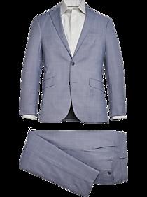 1960s Mens Suits | Mod, Skinny, Nehru Kenneth Cole Reaction Slim Fit Performance Stretch Suit Blue Windowpane $149.99 AT vintagedancer.com