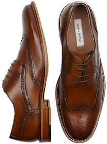 Mens 30% Off Shoes, Shoes - Joseph Abboud Greenwood Tan Wingtips - Men's Wearhouse