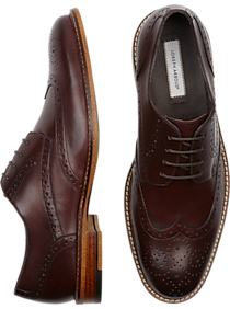 Mens - Joseph Abboud Greenwood Burgundy Wingtips - Men's Wearhouse