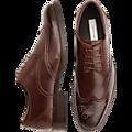 Joseph Abboud Brown Wingtip Lace-Up Shoes