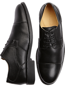 Belvedere Duke Black Cap Toe Shoes