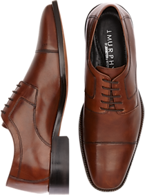 Mens 30% Off Shoes, Shoes - J. Murphy by Johnston & Murphy Novick Brown Cap Toe Lace Up Shoes - Men's Wearhouse
