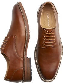 Joseph Abboud Tan Plain Toe Oxfords