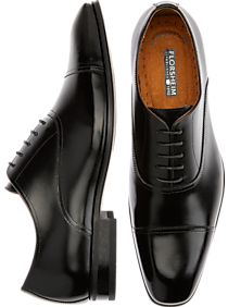 Mens New Arrivals, Shoes - Florsheim Francisco Black Cap-Toe Oxfords - Men's Wearhouse