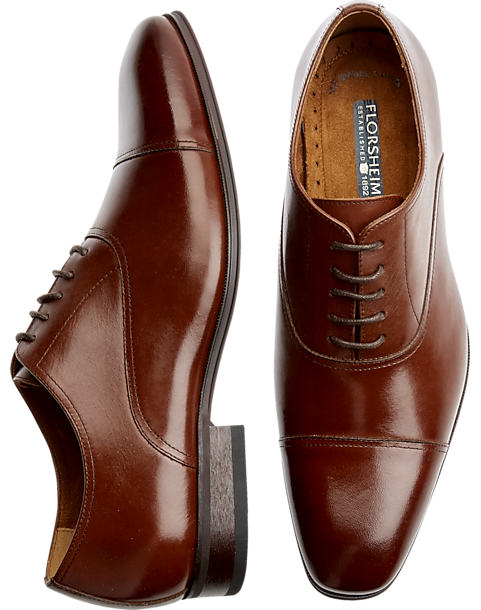 Florsheim Francisco Cognac Cap-Toe Oxfords - Men's Shoes | Men's Wearhouse