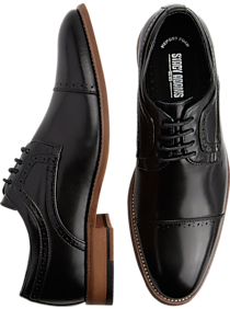 Mens Best Sellers, Shoes - Stacy Adams Dickinson Black Cap-Toe Oxfords - Men's Wearhouse