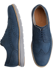 Cole Haan Original Grand Navy Wingtip Oxfords